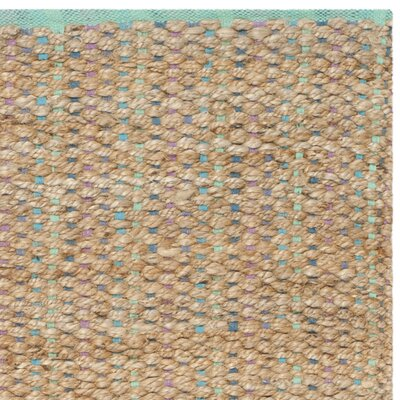Abia Hand-Woven Cotton Tan Area Rug Rug Size: Rectangle 3 x 5