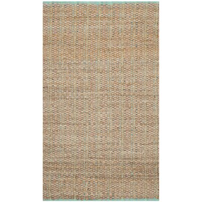Abia Hand-Woven Cotton Tan Area Rug Rug Size: Rectangle 4 x 6