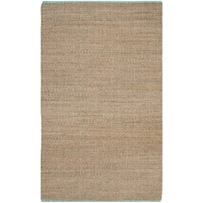 Abia Hand-Woven Cotton Tan Area Rug Rug Size: Rectangle 5 x 8
