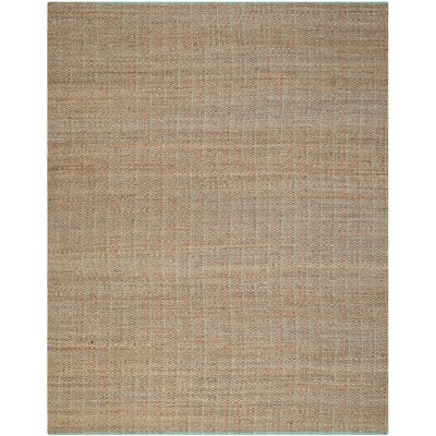 Abia Hand-Woven Cotton Tan Area Rug Rug Size: Rectangle 8 x 10