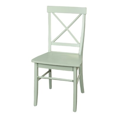 Brookwood Solid Wood Dining Chair Finish: Mint