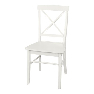 Brookwood Solid Wood Dining Chair Finish: White
