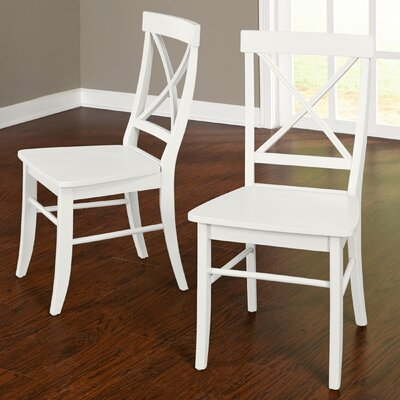 Brookwood Solid Wood Side Chair Color: White