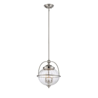 Stonebrook 3-Light Foyer Pendant Finish: Polished Nickel