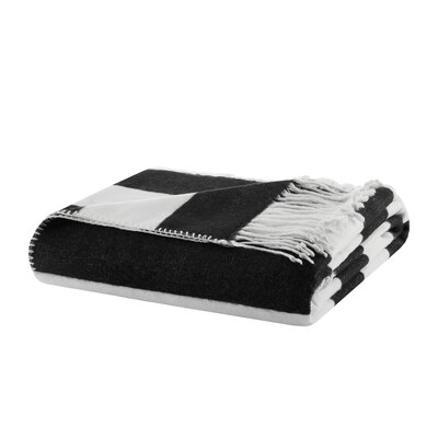 Rudloff Stripe Throw Color: Black