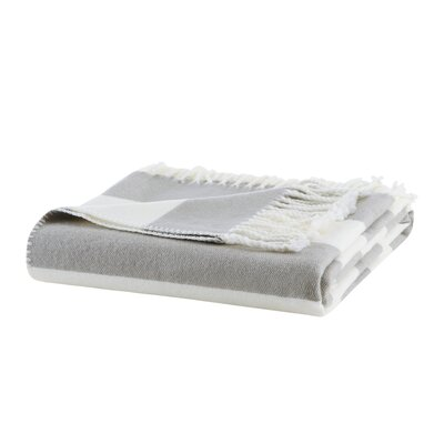 Rudloff Stripe Throw Color: Grey