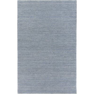 Tinsley Hand-Woven Denim Area Rug Rug size: 5 x 8
