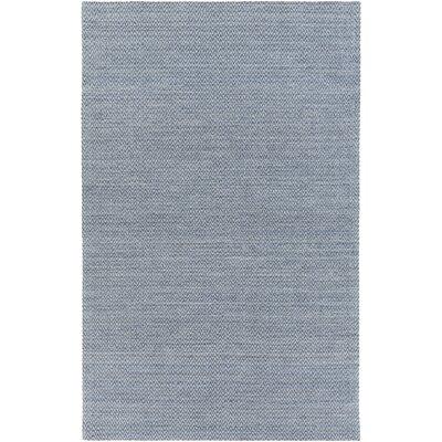 Tinsley Hand-Woven Denim Area Rug Rug size: 8 x 11