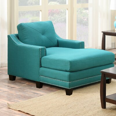 Galveston Pier Chaise Lounge Color: Teal