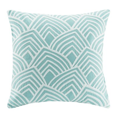 Northampton Square Cotton Throw Pillow Color: Aqua
