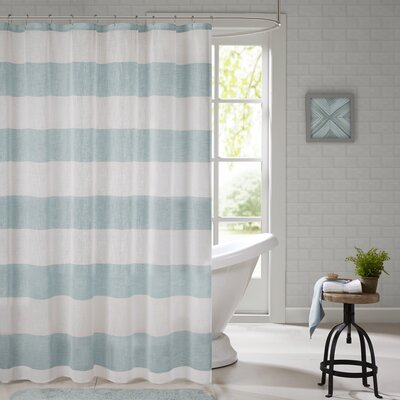 Brimfield Shower Curtain Color: Blue