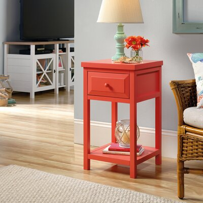 Maquoit End Table With Storage� Color: Desert Coral