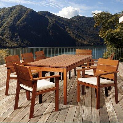 Reliable Rectangular Wood Dining Set Product Photo