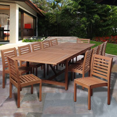 Ashford 13 Piece Eucalyptus Wood Dining Set