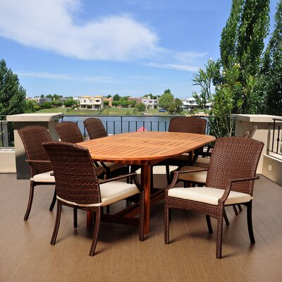 Ashford 9 Piece Dining Set with Cushions