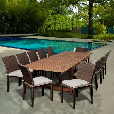 Big Coppitt Key 13 Piece Dining Set With Cushions