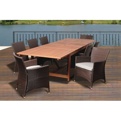 Ashford 9 Piece Eucalyptus Dining Set With Cushions