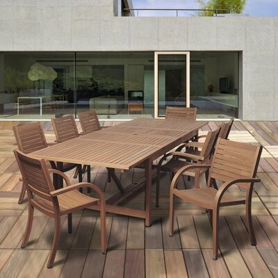 Ashford 9 Piece Eucalyptus Wood Dining Set