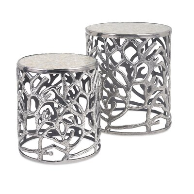 Fountainbleau 2 Piece End Table Set