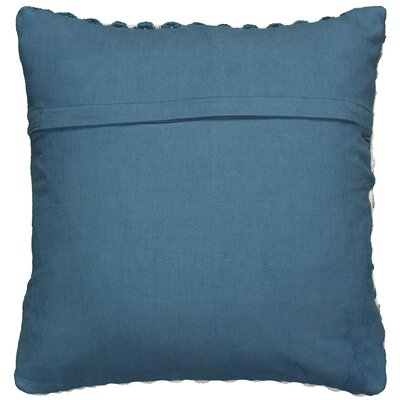 Ledyard Cotton Throw Pillow Color: Teal/Gray/Cream