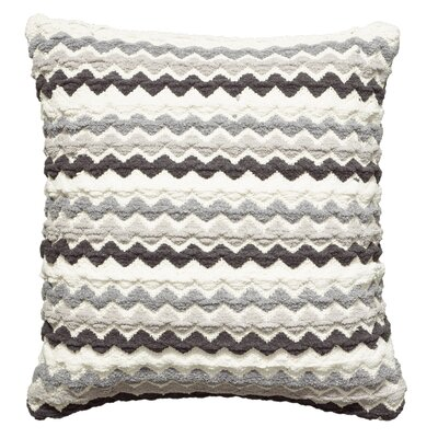 Kimberwood Cotton Throw Pillow Color: Black/Gray/White