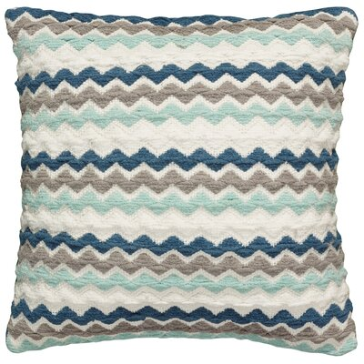 Kimberwood Cotton Throw Pillow Color: Teal/Gray/Cream