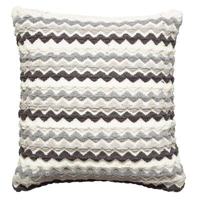 Kimberwood Cotton Throw Pillow Color: Black/Gray/White