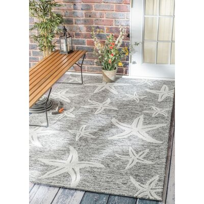 Bernardston Hand-Hooked Gray Area Rug Rug Size: Rectangle 8 x 10