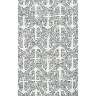 Mendon Gray Indoor/Outdoor Area Rug Rug Size: 5 x 8