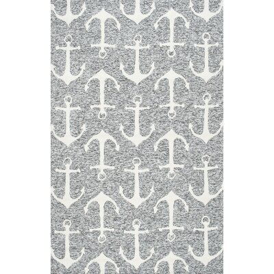 Mendon Gray Indoor/Outdoor Area Rug Rug Size: 9 x 12