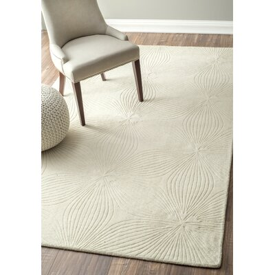 Burleigh Hand-Woven Ivory Area Rug Rug Size: Rectangle 5 x 8