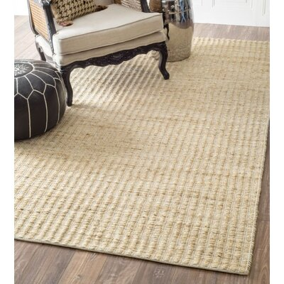 Pikeville Hand-Woven Beige Area Rug Rug Size: Rectangle 26 x 8