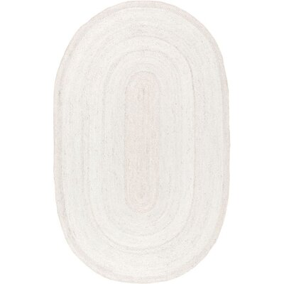 Burrillville Hand-Woven Off-White Area Rug Rug Size: Oval 5 x 8