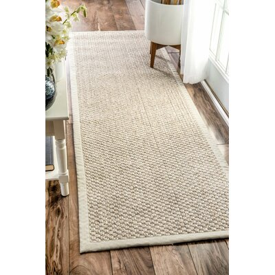 Metochi Natural Area Rug Rug Size: Runner 26 x 8