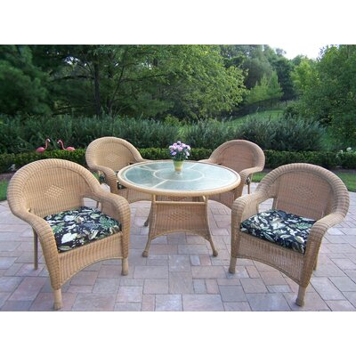 Kingsmill Dining Set with Cushions Fabric: Ebony Floral