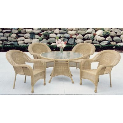 Claremont 5 Piece Dining Set Finish: Natural