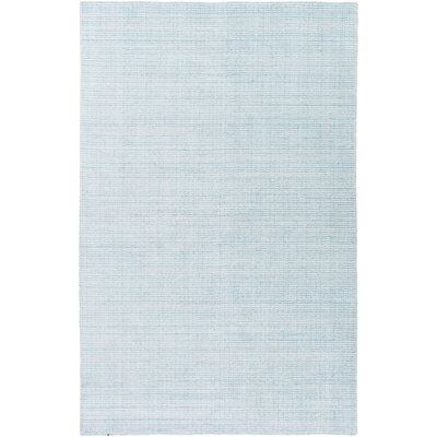 Chesterbrook Hand-Loomed Aqua Area Rug Rug size: Rectangle 6 x 9