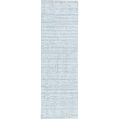 Chesterbrook Hand-Loomed Aqua Area Rug Rug size: Runner 26 x 8