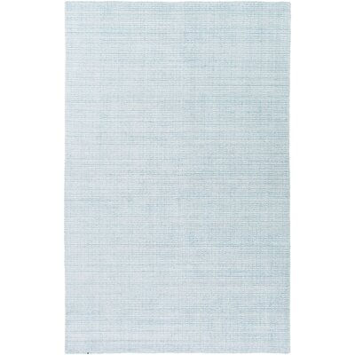 Chesterbrook Hand-Loomed Aqua Area Rug Rug size: Rectangle 5 x 76
