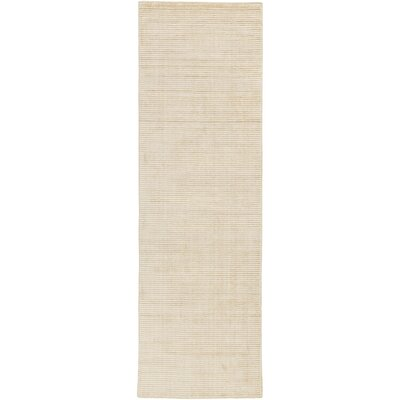 Chesterbrook Hand-Loomed Tan/Khaki Area Rug Rug size: Runner 26 x 8