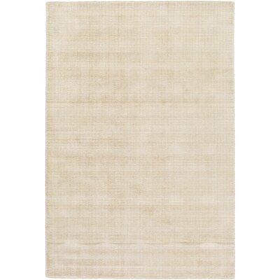 Chesterbrook Hand-Loomed Tan/Khaki Area Rug Rug size: 4 x 6