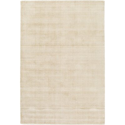 Chesterbrook Hand-Loomed Tan/Khaki Area Rug Rug size: Rectangle 6 x 9