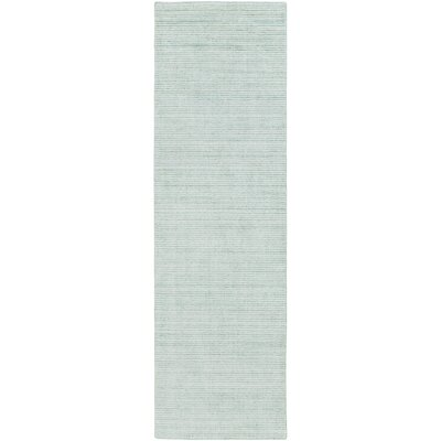 Chesterbrook Hand-Loomed Sea Foam Area Rug Rug size: Runner 26 x 8