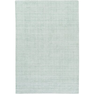Chesterbrook Hand-Loomed Sea Foam Area Rug Rug size: 6 x 9