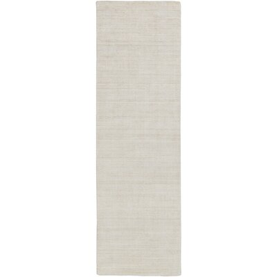 Chesterbrook Hand-Loomed Khaki/Light Gray Area Rug Rug size: Runner 26 x 8