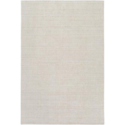 East Palatka Hand-Loomed Khaki/Light Gray Area Rug Rug size: 4 x 6