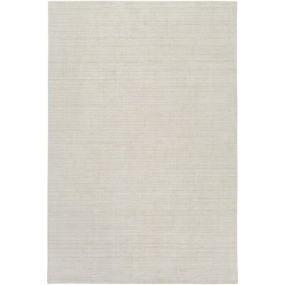 Chesterbrook Hand-Loomed Khaki/Light Gray Area Rug Rug size: 6 x 9
