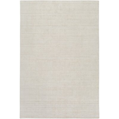 East Palatka Hand-Loomed Khaki/Light Gray Area Rug Rug size: 9 x 13