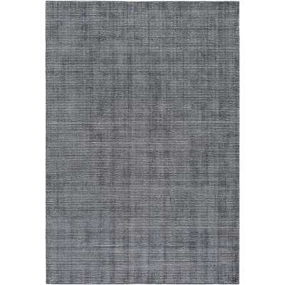 Chesterbrook Hand-Loomed Black Area Rug Rug size: Rectangle 4 x 6