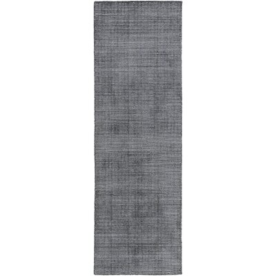 Chesterbrook Hand-Loomed Black Area Rug Rug size: Runner 26 x 8